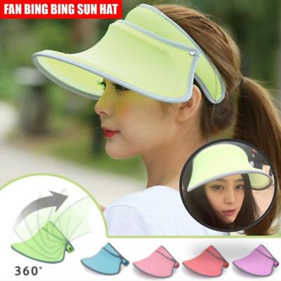 c66ade8c7b9 Qoo10 -  SUN HAT  Fan bing bing sunblock hat cap  Green Blue Pink scarlet purpl...   Fashion Accessor.