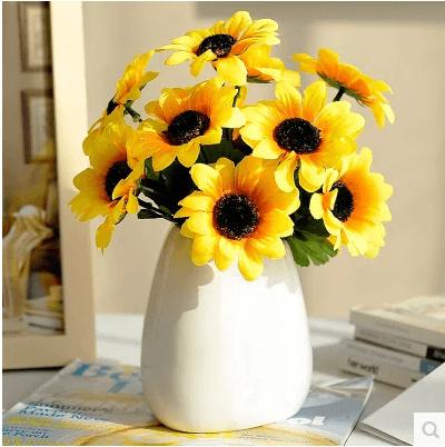 Qoo10 Sunflower Vase With Flower Simulation Flower Set Fake Flower
