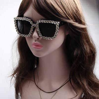 d964b8cba2 Qoo10 - sunglasses women square vintage sunglasses bling rhinestone  sunglasses...   Fashion Accessor.