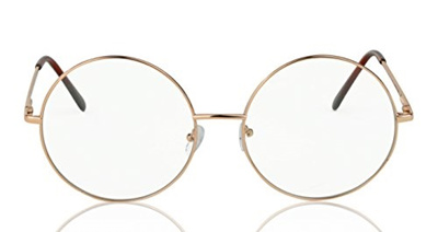 87e8a2729e Sunny Pro Selfie SunnyPro Oversized Non Prescription Retro Hippie Round  Circle Clear Lens Eyeglasses