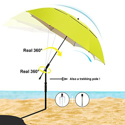 Sunphio Sun Shade Umbrella For Beach Camping Fishing Picnic Travel And Patio
