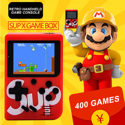 💋 Sup X Game Box Retro Handheld Game Console Emulator Built-In 400 Old  Time Classic Game Joystick