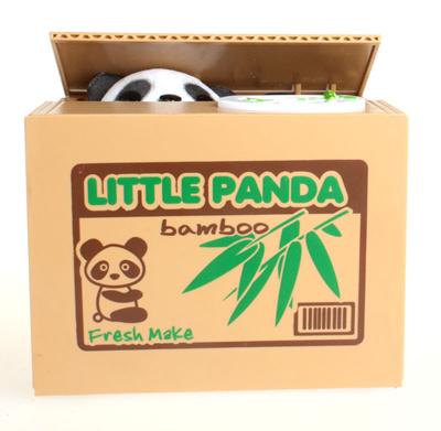 Super cute stolen kitten piggy piggy stole the money cat steal Panda  birthday Valentines Day gift