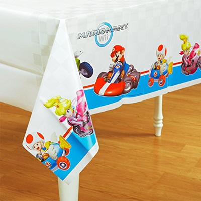 Qoo10 & Super Mario Brothers Mario Kart Wii Plastic Table Cover (1ct)