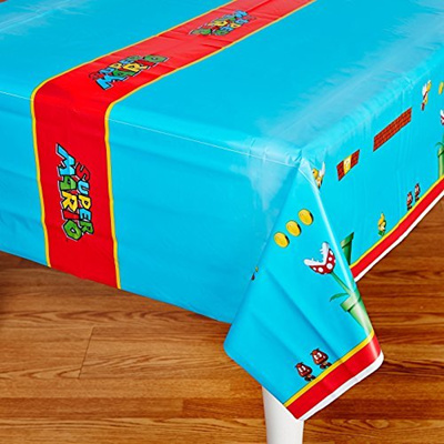 Qoo10 & Super Mario Party Supplies - Plastic Table Cover