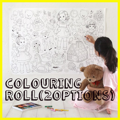 Super Sale Paper Doll Mate Colouring Roll Hobby Coloring