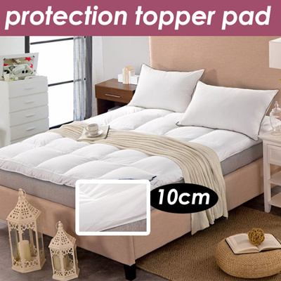 Qoo10 superior all season alternative cotton white mattress topper bedding rugs household - Alternative uses for household items ...