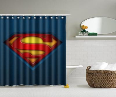 Superman Custom Waterproof Shower Curtain Bathroom Accessories