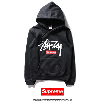 d6fb88e8246d SUPREME stussy and the trend of joint letter cashmere Hoodie and tide brand  men long sleeved