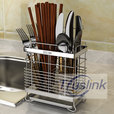 SUS304 Stainless Steel Knife Fork Spoon Holder Kitchen Chopstick Rack  Kitchen Utensils Drying Rack
