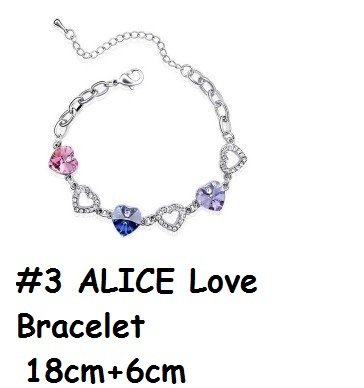 ad86eee4431f4 [ Swarovski Elements ] Alice Love Bracelet