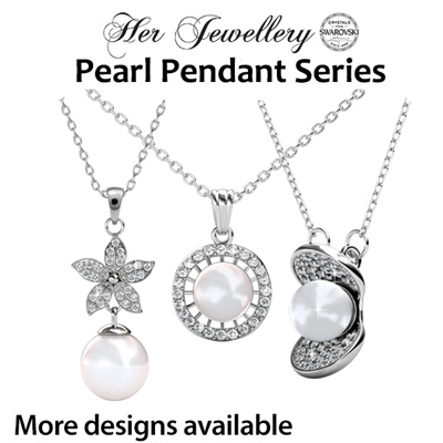 Qoo10 pearl pendant series watch jewelry embellished with crystals from swarovski her jewellery pearl pendant series aloadofball Images
