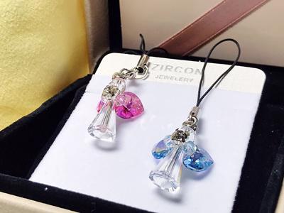 1666cb89e [Swarovski] Crystal Angel Pendant handphone/keychain/bag strap