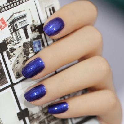 Qoo10 - Sweet Green nontoxic Nail Color Nail Polish bright deep blue ...