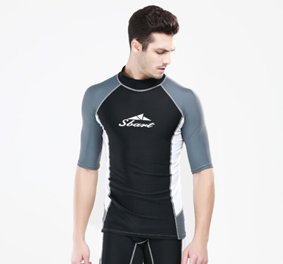 1340a5c1bb3 Swim T Shirts Men Short Sleeve Rash Guard Swimwear Swim Diving Suit  Snorkeling Scuba Surf Clothes