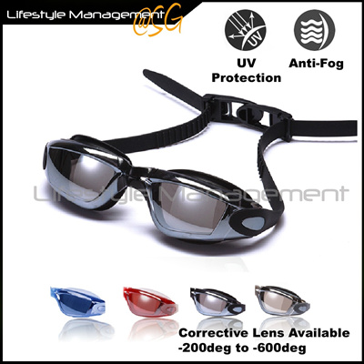 a6c4afdf88 Swimming Goggles  Glasses Myopia Degrees Optical Power Short Sighted Corrective  Lens Normal