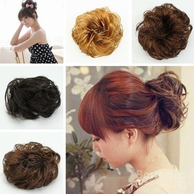 Qoo10 - Synthetic Hair Scrunchie Hairpiece Updo Ponytail Holder ... ac1f3d89982
