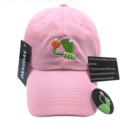 b24e67f477e Qoo10 - (SYWHPS) Kermit The Frog Dad Hat Cap Sipping Sips Drinking Tea  Champio...   Men s Apparel