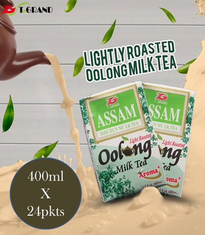 T GrandAssam Green Milk Tea♥Vanilla Milk Tea♥Oolong Milk Tea♥Oolong Assam  Milk Tea♥ (400ML X 24PKT)