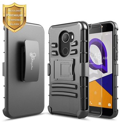 super popular 53ede 2c1d7 T-Mobile REVVL Case with [Tempered Glass Screen Protector] Alcatel A30  Fierce (MetroPCS) / Alcatel