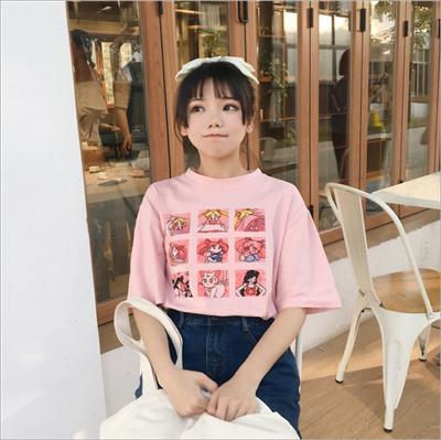 d7031c389 Qoo10 - T-shirt / creative Sailor Moon T-shirt : Women's Clothing