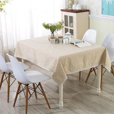 Tablecloth Lace Cotton Linen Table Cover Fabric Dining Table Cloth Zakka Stlye Home Textile Kitchen