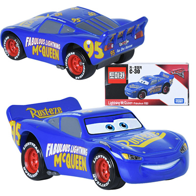 Takara Tomy Tomica Cars 3 C 30 Lightning Mcqueen Fabulous Type Mini Car