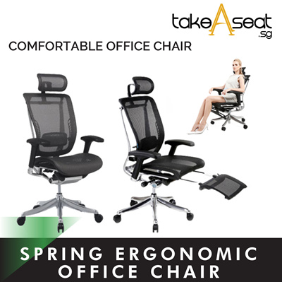 Ergonomic Office Chair Spring Luxury Us Patent Design Add Leg Rest Option