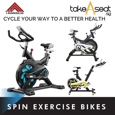 TakeaseatSPIN Exercise Bike Fitness Cardio Workout Home Cycling Racing  Machine