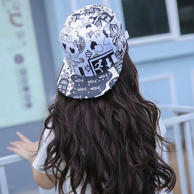 Qoo10 - Taobao explosions Korean sun visor Hat cartoon urban graffiti hip  hop ...   Fashion Accessor. b37063f1122