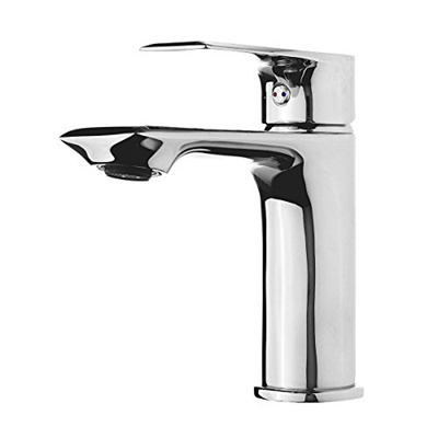 TAPCET Chrome Bathroom Faucet Tap Washroom Hot & Cold Water Mixer Basin Faucet Single Handle Lavator