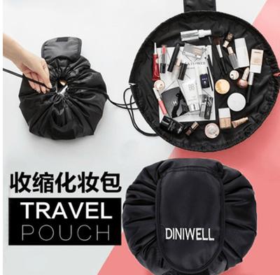 tas kosmetik kapasitas besar portabel tas serut malas bepergian perlengkapan perjalanan mencuci tas tahan air kantong