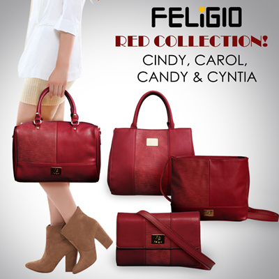 Qoo10 - TAS  TAS WANITA  PREMIUM QUALITY  FELIGIO RED COLLECTION ... 5dc67f55fe