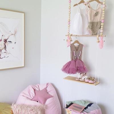 Clothes Rack Kids Room Decor Wall