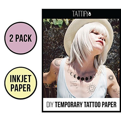 photograph regarding Printable Tattoo Paper identified as Tattify Do-it-yourself Short term Tattoo Paper 2 Pack For Inkjet Printers, Printable Very long Long-lasting Custom made Tattoos