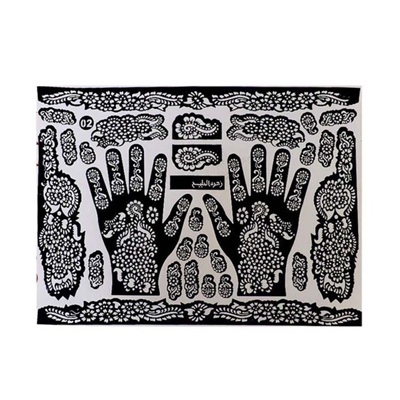 Tattoo Templates Hands Feet Henna Stencils Airbrushing Professional Mehndi New Body Painting
