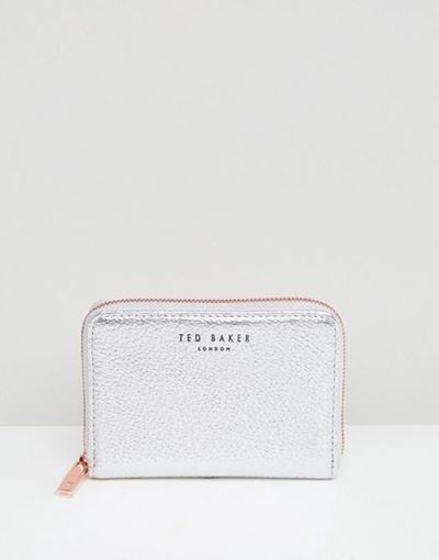 8305e8addfbe71 Qoo10 - Ted Baker Illda Small Zip Purse in Textured Leather   Bag   Wallet