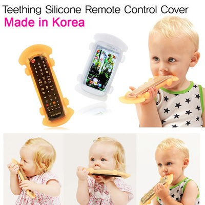 Dr.mama Remote Silicone Case Protector Baby Teether Teething Toy Non-toxic