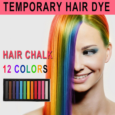 [Temporary Hair Dye] Hair Chalk Pens / Dye Stick / Salon / Waxy / Washable  / Touch Up / Easy to use