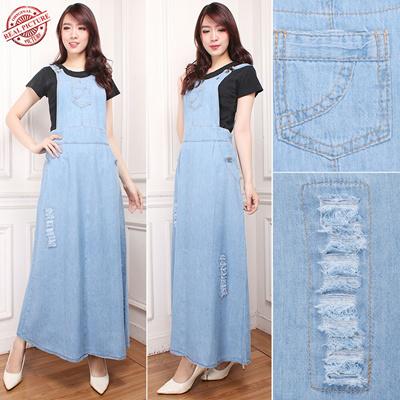 Qoo10 Termurah Jumpsuit Tracy Maxi Dress Jeans Wanita