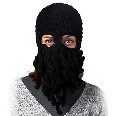 f931592e3d2 Qoo10 - TGD Tentacle Octopus Cthulhu Knit Beanie Hat Cap Wind Ski Mask  (Black)   Men s Bags   Shoes
