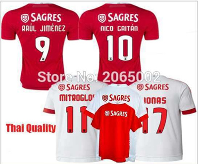 cheap for discount 8aff2 3e428 Thai 15 16 SL Benfica Soccer Jersey 2015 2016 home away Football Benfica  shirts