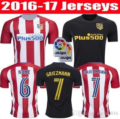 finest selection 4c71b 5ffff thai quality 16 17 Atletico Madrid jerseys 2017 GRIEZMANN F TORRES GODIN  KOKE GABI home and away Foo