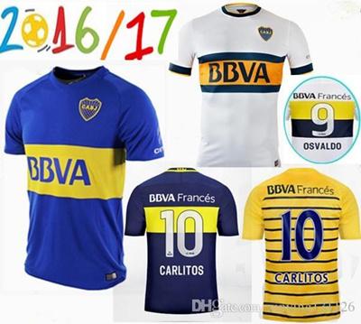 the latest 8b0e2 c67b1 thai quality 2016 Boca Juniors jerseys Home blue Away White 16/17 Boca  Juniors CARLITOS ROMAN Shirt