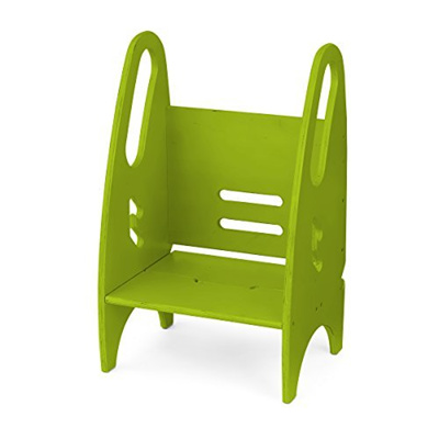 Incredible The Growing Step Stool By Little Partners Apple Green Adjustable Height Nursery Kitchen Or B Short Links Chair Design For Home Short Linksinfo
