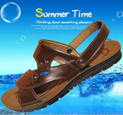 ab5c643b5bb Qoo10 -   The new non-slip leather sandals summer sandals men sandals mens  mid...   Bags Shoes   Acc..