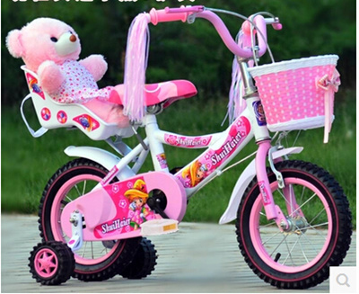 b96fb737e88961 The new princess childrens bicycles 3-6 year-old baby baby stroller 12 inch