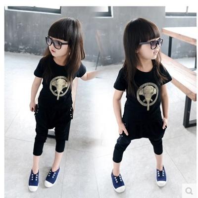 c08daa3b6d5c Qoo10 - The new summer childrens suits girls boys short sleeve t ...