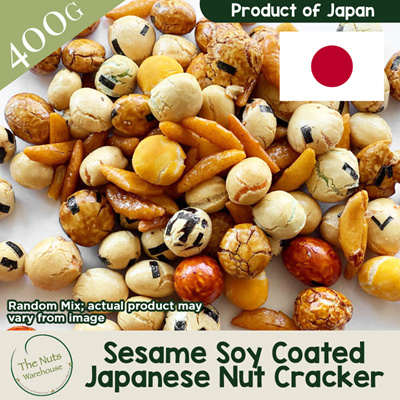 The Nuts Warehouse[400g] Nutritious Assorted of Sesame Coated Soya Japanese  Nuts Cracker from Japan
