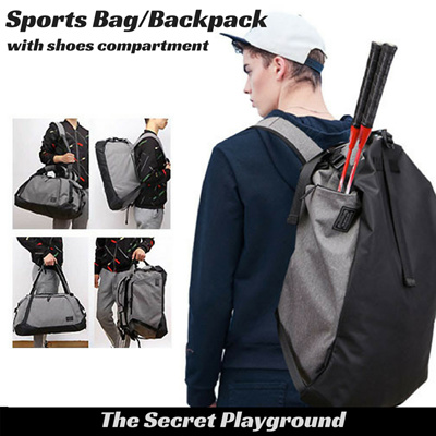 f489b33abd07 Sports Gym Bag cum Backpack with Shoes compartment